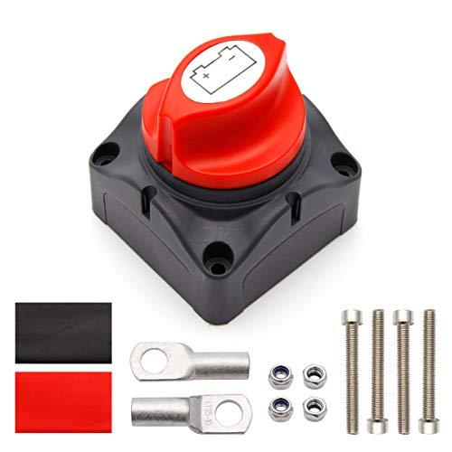 Anladia Batterieschalter Batterie Trennschalter 12v / 24V Batterietrennschalter Akku Power Cut Off Schalter Hauptschalter 12v 275 Amp, Wasserdicht für Boot Motorrad Yacht Auto KFZ Bus RV UTV-Fahrzeug