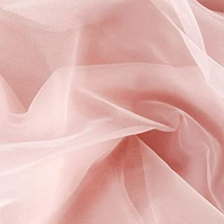 Somerset Industries, 108in Nylon Chiffon Tricot Light Pink Fabric By The Yard