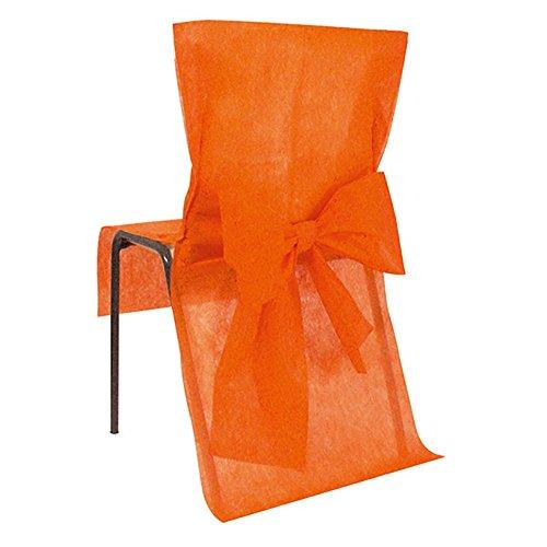 Chaleyer & Canet - Housses de chaise avec noeud - orange