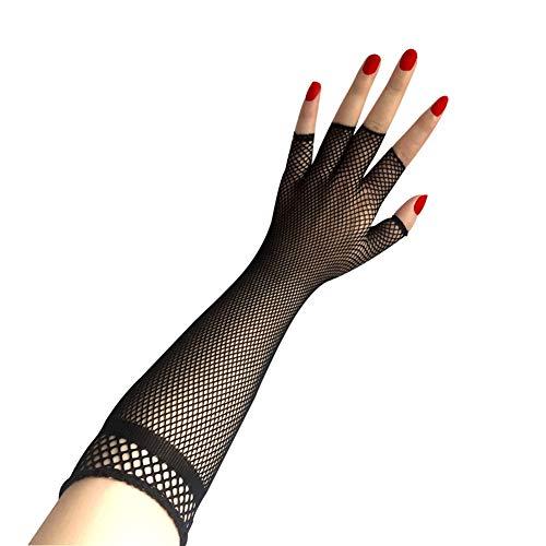 amorar Sexy pescado Red largos guantes Disfraz Accesorio Half de dedos Punk Style novedad Guantes Guantes para fiestas Night Club Ocasiones Especiales boda Guantes, Mujer, Negro , talla única