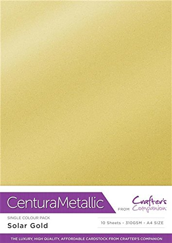Centura Metallic Einfarbige Solargold 10 Bogenpacken-Solar, Cardstock, Soalr Gold, 34.4 x 22.5 x 0.5 cm
