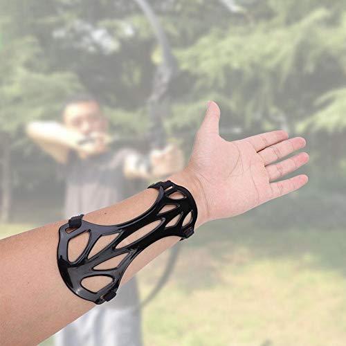 Alomejor 3 Farben Bogenschießen Armschutz Carbon Nylon Unterarmschutz zum Schießen(Schwarz)