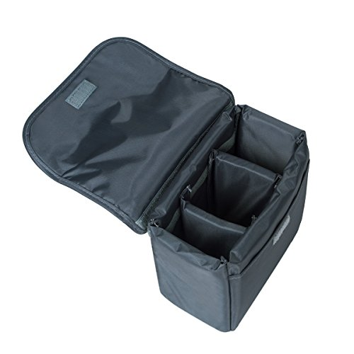 G-raphy Camera Case DLSR SLR Insert Case Bag Portable Inner Bag Waterproof Shockproof for Mirrorless Cameras, Lenses, Nikon, Canon, Sony,Panisonic and etc