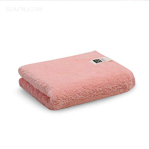 CMZ Toalla de Color sólido Simple de algodón Puro 50 Toallas de algodón de Fibra Larga sin torsión Toalla de Lavado Facial para Parejas (34x74 cm)