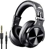 OneOdio A70 Auricurales Bluetooth Inalambricos 50H, Auriculares Cable de 3.5mm, Auriculares Diadema Cerrados 90° Ajustable con Puerto Compartido, para DJ Piano Guitarra Grabación y Monitorización AMP