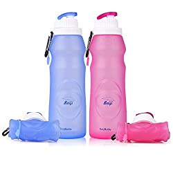 Silicon collapsible travel bottles