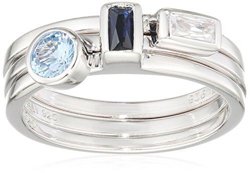 Fiorelli Silver Anillo Mujer Plata Plata Fina 925 circonita Baguette - R3565 52
