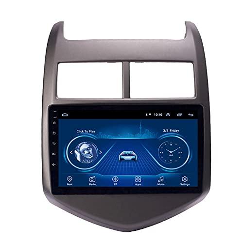 Android 10.0 8 Core Car stereo radio de navegación por satélite FM AM Autoradio 2.5D Pantalla táctil para Chevrolet AVEO SONIC 2011-2013 Navegador GPS Bluetooth WIFI GPS USB SD p(Color:4G+WIFI 2G+32G)