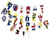 Brass Blessing Maritimes/Maritimes/Boot/Strandparty/nautische Dekoration: 40 kleine Baumwollflaggen