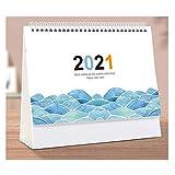 LDH Calendario di scrittorio Creativa Simplicity 2021 Un Mese for UK Stand Alone Tavolo scrivania Calendario, School Year Planner, Foglio Floreale Design
