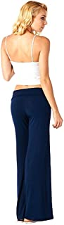 Popana Women's Casual Wide Leg Flare Comfy Palazzo Lounge Pants Made in USA