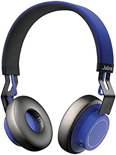 Jabra Wireless Stereo Bluetooth Headphones with Charging Cable, Blue, (Jabra Move)