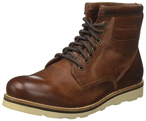 Superdry Herren Stirling Sleek Chukka Boots, Braun (Dark Chestnut), 45 EU