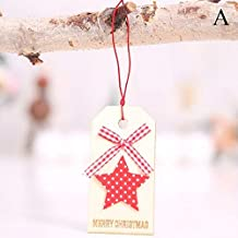 Pendant Drop Ornaments - Diy Merry Christmas Cute Bow Wooden Deer Pendants Ornament Wood Crafts Party Hanging Decoration - Bow Compound Boy Bow Suit & Bow Chinese Recurve Tie Bow Arch Butte