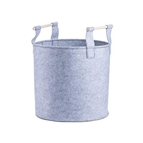WY-YAN Caja de Almacenamiento de Fieltro Redonda Cesta de almacenado Cesta for la Ropa Sucia de Gran Capacidad portátil de Juguete Ropa Cesta del almacenaje xzcxcvcbvxdsa/Gris / 34 * 17,5 * 33 cm