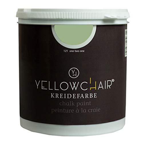 Kreidefarbe yellowchair 1 Liter ÖKO für Wände und Möbel Shabby Chic Vintage Look (No. 121 salbeigrün)
