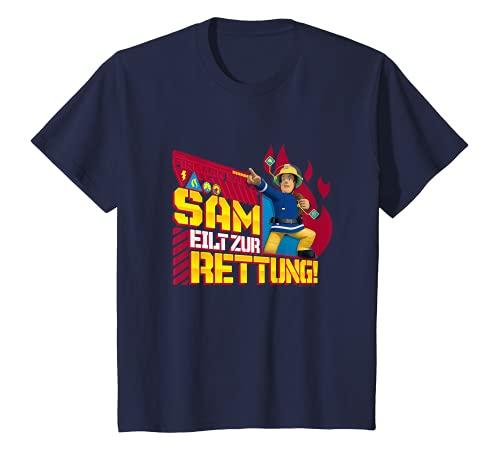 Kinder Feuerwehrmann Sam T-Shirt, Rettung, viele Größen+Farben