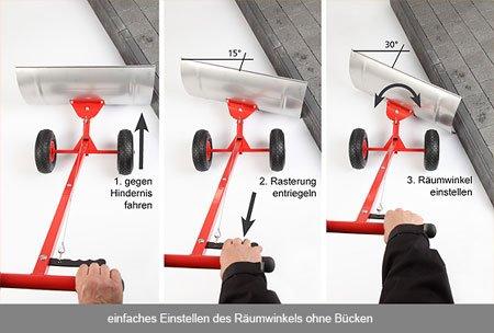 Original Schnee-Fuchs – Schneeschippen, ohne den Rücken zu belasten – Schneefuchs – neuestes Modell! - 2