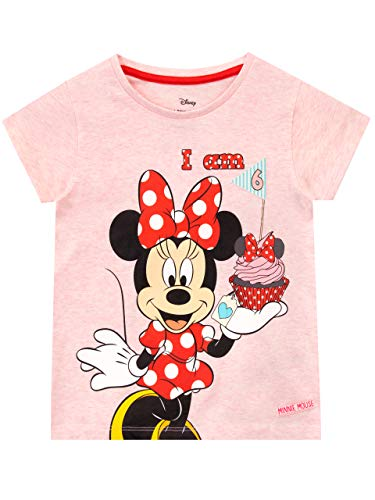 Disney Camiseta para Niñas Minnie Mouse Rosa 5-6 años