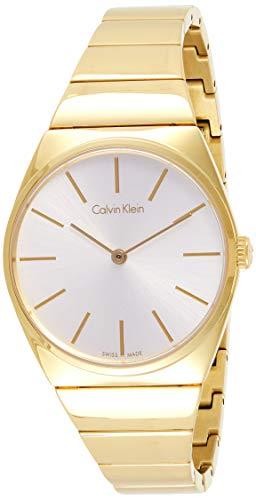 Calvin Klein Damen Analog Quarz Uhr mit Edelstahl Armband K6C2X546