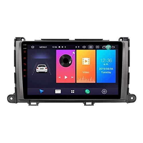 WY-CAR Android 8.1 Coche Estéreo Multimedia Player para Toyota Sienna 2010-2014, Pantalla Táctil Capacitiva De 9 Pulgadas/Bluetooth/MirrorLink/SWC/Cámara De Vista Posterior,4 core-4G+WiFi: 1+16G