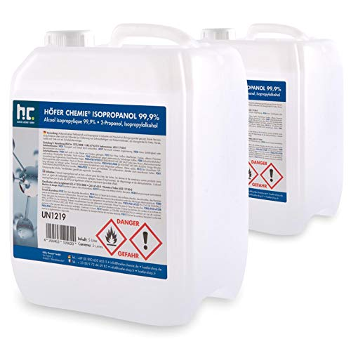 Höfer Chemie 2 x 5 L Isopropanol 99,9% IPA