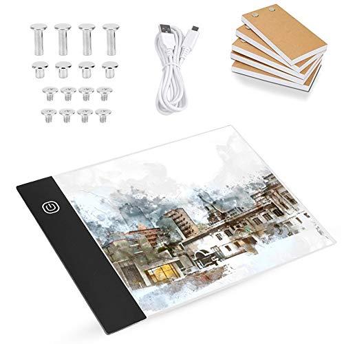 EECOO Ultra-Mince Tablette de Dessin LED, Ensemble de Livre à Feuilles Mobiles A6 avec USB Cable, Flip Book LED pour Dessiner, Croquis, Esquisse, Architecture, Calligraphie