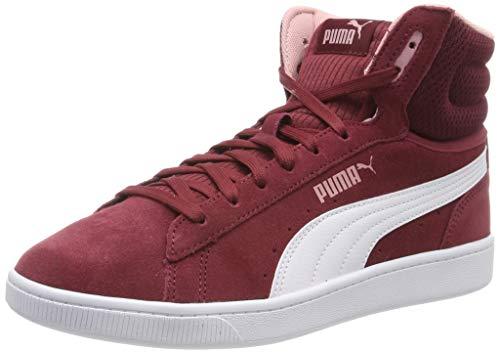 Puma Puma Vikky v2 Mid Hohe Sneaker Damen, Violett (Cordovan-Puma White-Bridal Rose 03), 38 EU