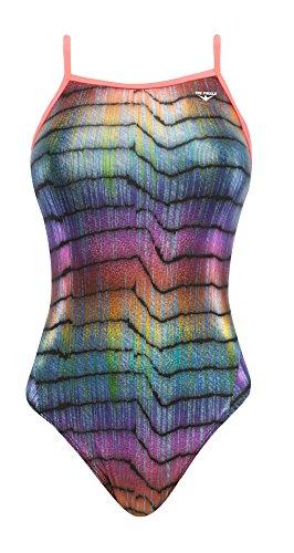The Finals Women's Sparkle Blast Foil Wing Back Swimsuit, 26, Multicolor