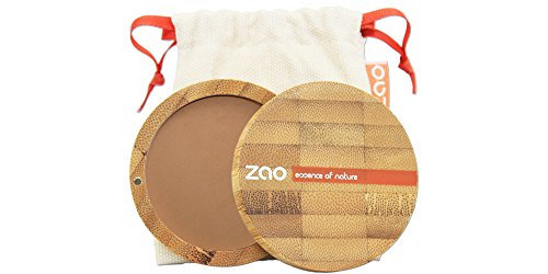 ZAO Compact Powder 305 milchschokolade Kompaktpuder, in nachfüllbarer Bambus-Dose (bio, Ecocert,...