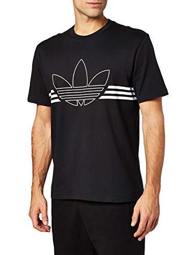 adidas Herren Outline TRF T-Shirt, Black, L