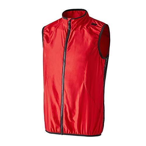42K Running - Gilet tecnico 42k Vest EVO, Unisex - Adulto, Gilet, Rosso/Nero, L
