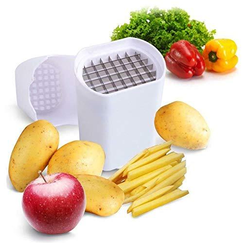 Perfect Fries - Cortador de patatas fritas para verduras y frutas, cortadas en un paso, natural