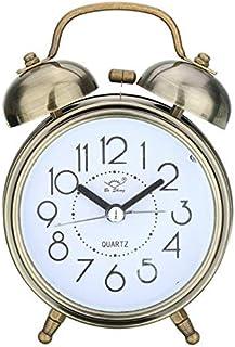 Despertador Retro Retro Silenciador Puntero Reloj Bocina Doble Timbre Despertador Noche Luz De Noche Decoración del Hogar 3