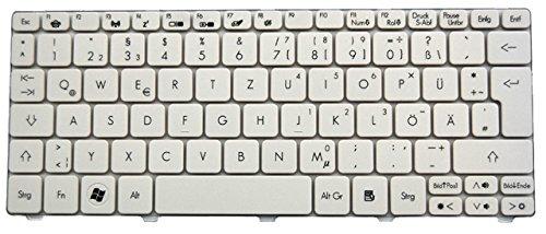NExpert Orig. QWERTZ Tastatur für Acer Aspire One 521 522 532H 533 Series DE NEU Weiss