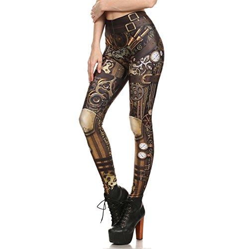 Bsrale Leggings Mujer Leggins Calavera Impresos Legging Mujer Leggins Fitness...