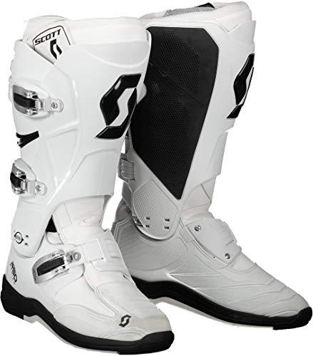 Scott 550 MX Motocross Supermoto Motorrad Stiefel weiß 2020: Größe: 43