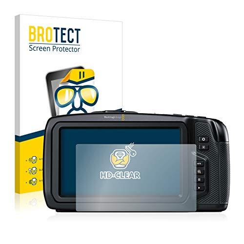 BROTECT Schutzfolie kompatibel mit Blackmagic Pocket Cinema Camera 4K (2 Stück) klare Bildschirmschutz-Folie