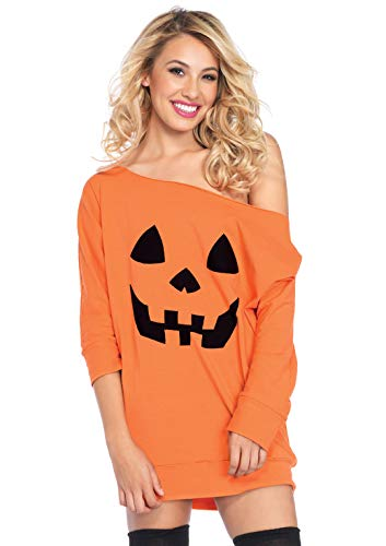 Leg Avenue Women's Costume, Orange Pumpkin, Medium/Large