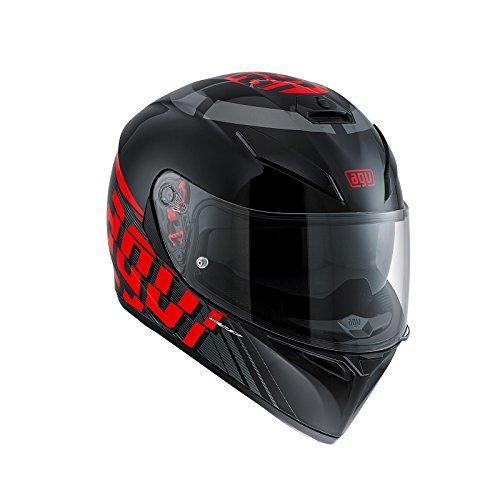 AGV 0301A2EY_005 Motorradhelm, Mehrfarbig (RAV Schwarz/Weiß/Rot), MS