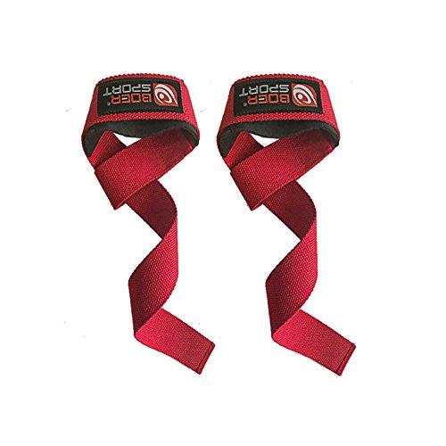 VANKER - Correa de apoyo para muñeca, poliéster antideslizante, cinturón de levantamiento de pesas, para fitness, entrenamiento, muñequera, correas y mucho más, para hombres y mujeres, rojo, 4*62 cm