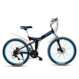 ASDF Bicicleta de montaña para Adultos - Bicicleta de montaña Plegable Bicicleta para Adultos, Ligera, Unisex, para Hombres, Bicicleta de Ciudad, Ruedas de 27 Pulgadas, Marco de Aluminio, Bicicle