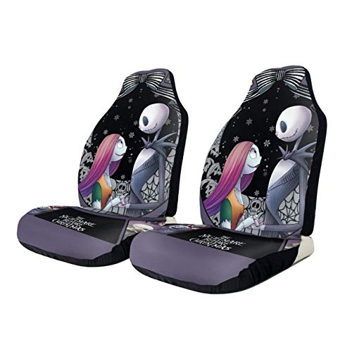 TAWOAO The Nightmare Before Christmas Car Front Seat Covers Protectors Bucket Cover Universal Fit for Auto Truck Van SUV Sedan