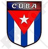 Kuba Kubanische Republik Kuba Schild 100mm Auto & Motorrad Aufkleber, Vinyl Sticker