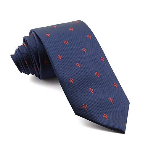 Cencibel Smart Casual Corbata Cruz de Santiago (Marino-Rojo)