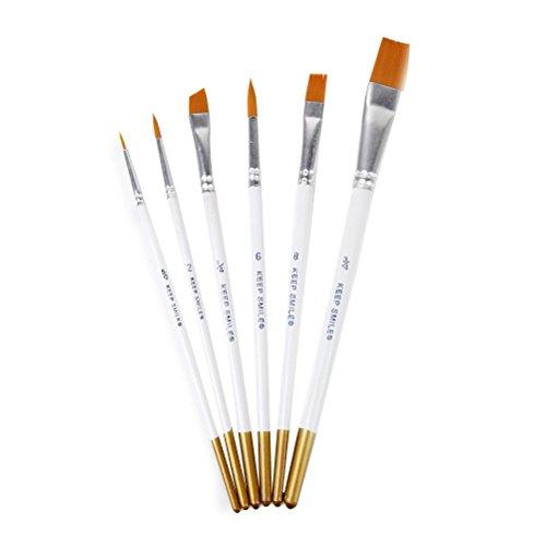 Winomo Qualità premium Nylon pennelli pittura ad acquerello Set di pennelli - 6 pezzi