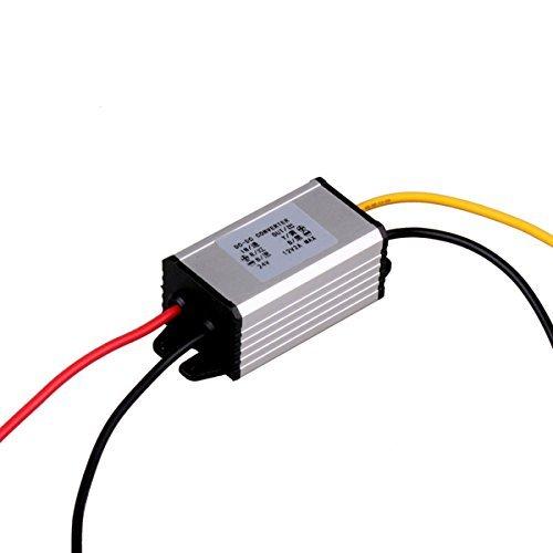 Regulador convertidor reductor de 24 V a 12 V CC, adaptador de inversor de corriente, entrada de 18 V a 32 V para vehículo, barco, camión, furgoneta (Step Down 2A / 24W)