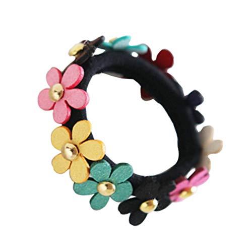 Guangcailun Bunte Blumen-Frauen-Mädchen-Haar-Seil-elastische Haar-Ring Schönheit Stirnband Kopfbedeckung Schmuck