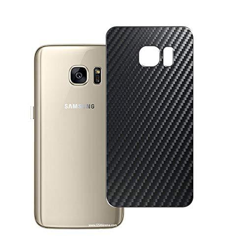 Vaxson 2 Unidades Protector de pantalla Posterior, compatible con Samsung Galaxy S7 G930A G9300, Película Protectora Espalda Skin Cover - Fibra de Carbono Negro
