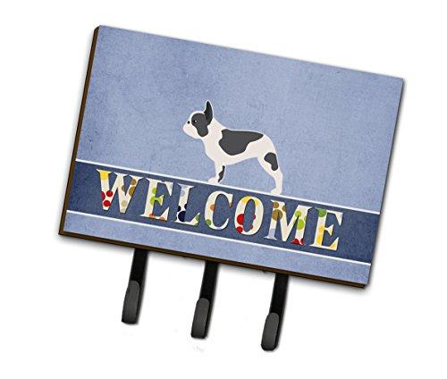 Caroline's Treasures BB5545TH68 French Bulldog Welcome Leash or Key Holder, Triple, Multicolor